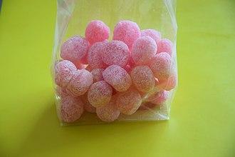 Rose (color) - A bag of rose bonbons
