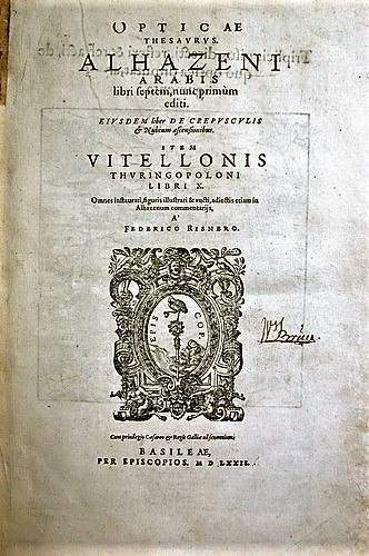 Book of Optics Cover Page
