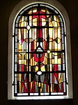 Borgholms kirke Färgat glasvinduer 012.   JPG