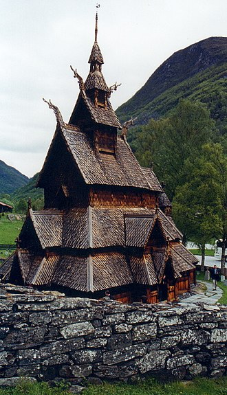 Antestor - Borgund Stave Church is depicted in the Det tapte liv (2004) EP's cover art.