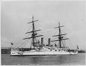 USS Boston (1884) - Boston (protected). Port bow