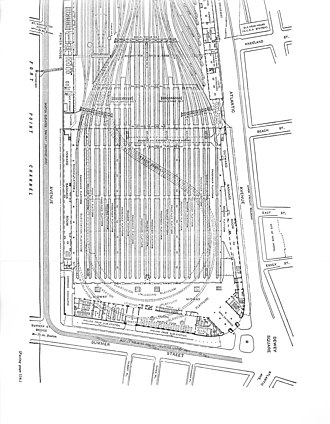 South Station - Original track layout