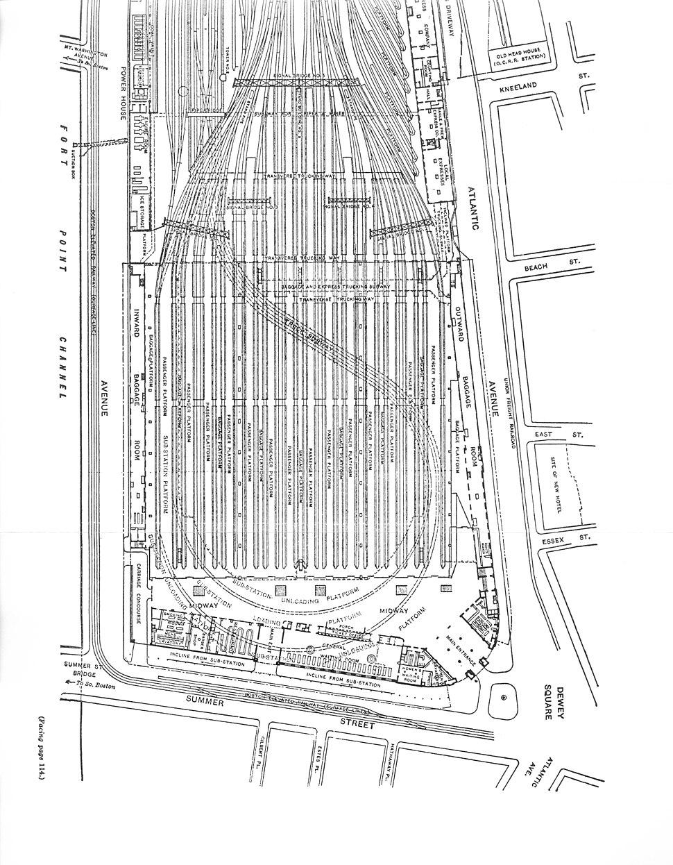 Boston South Station diagram