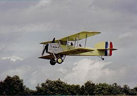 Replica del Breguet 14 in volo.