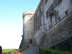 A view of the Castello Orsini-Odescalchi.