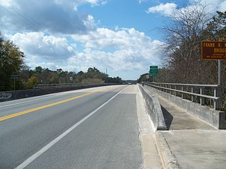 U.S. Route 27 in Florida - The Frank Norris Bridge in Branford