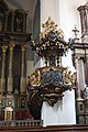 Bratislava, Jesuit church, the pulpit.JPG