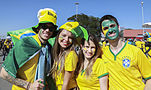 Brazil and Croatia match at the FIFA World Cup (2014-06-12; fans) 02.jpg