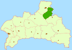 Location of Ļahaviču rajons