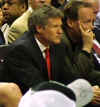 Brett Brown - Brown with the Spurs in 2010