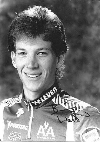 Brian Walton (cyclist) - Brian Walton's official 7-11 team press photo from 1989.