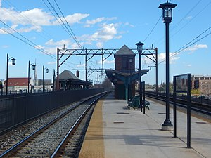 Brick Church station - Looking east toward downtown East Orange