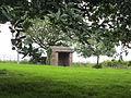 Brick shelter at Hapsford.JPG