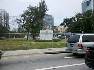 Brickell City Centre - Part of Brickell City Centre site in 2011 prior to revival