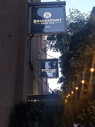 BridgePort Brewing Company - Signs above the entrance to the BridgePort Brewing Company's brewpub in Portland