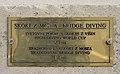 Bridge diving podest from Kanal bridge - plaque.jpg