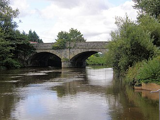 River Blackwater (Northern Ireland) - The bridge over the River Blackwater which connects Charlemont, County Armagh, to The Moy, County Tyrone.