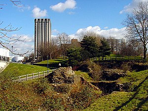 Bristol Castle - Remains of the castle today