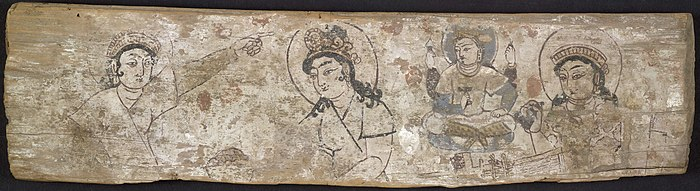 Clothing In India  Wikipedia Painting On Wooden Panel Discovered By Aurel Stein In Dandan Oilik  Depicting The Legend Of The Princess Who Hid Silk Worm Eggs In Her  Headdress To Smuggle  English Literature Essay Questions also How To Stay Healthy Essay  Topics For High School Essays