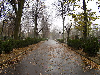 Bródno Cemetery - Image: Brodno Cemetery main lane