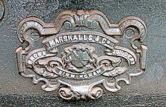 Brown, Marshalls and Co. Ltd. - Image: Brown Marshalls & Co Carriage Builders Plate Talyllyn Rly 2015