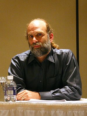 English: Bruce Schneier at CFP 2007: Open pane...