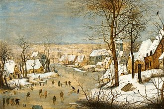 National Museum, Wrocław - Image: Brueghel the Younger Winter landscape