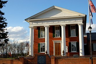 National Register of Historic Places listings in Buckingham County, Virginia - Image: Buckingham VA county courthouse