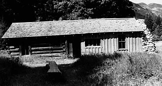 National Register of Historic Places listings in Chelan County, Washington - Image: Buckner Homestead Buzzard Cabin