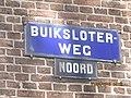 Buiksloterweg, naambord, Amsterdam Noord.JPG