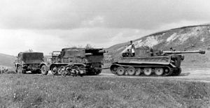 Sd.Kfz. 9 - Two Sd.Kfz. 9s towing a Tiger I in Russia