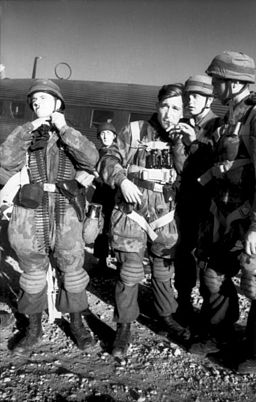 German paratroopers prepare to be flown to the Greek island of Leros in 1941.