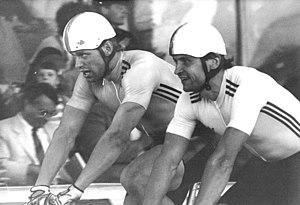 Michael Hübner - Michael Hübner (left) at the Grand Prix of Leipzig 1985