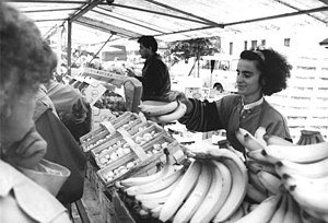 Turks in Germany - A Turkish woman working in a market in Berlin.