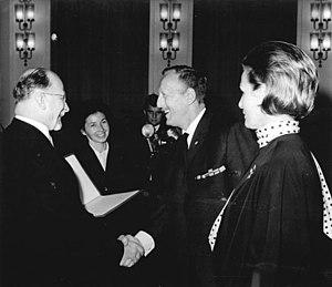 Erwin Geschonneck - Walter Ulbricht, Erwin Geschonneck, Inge Keller (left to right)