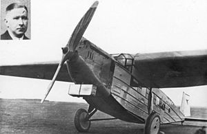 BFW M.20 - M 20, with a picture of Pilot Erich Pust, killed with eight passengers on another M.20 (D-1930) near Dresden, on the Berlin-Vienna run.