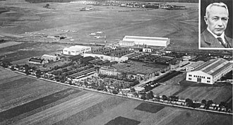 Junkers - The Junkers factory in Dessau, 1928.