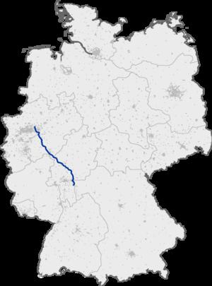 Bundesautobahn 45 - Image: Bundesautobahn 45 map