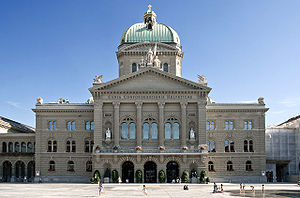 Politics of Switzerland - The Federal Palace, in Bern, hosts the Federal Assembly and the Federal Council.