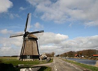 Burgerbrug Village in North Holland, Netherlands