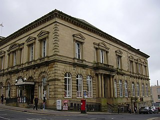 Burnley Mechanics theatre and former Mechanics Institute in Burnley, Lancashire, England