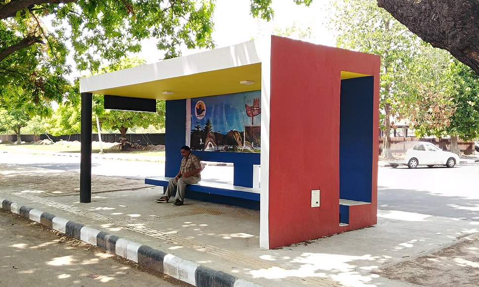Bus stop in Chandigarh