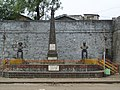 Busts of Dr. Babasaheb Ambedkar and Mahatma Jotirao Phule, and memorial pillar for martyrs at Bindu Chowk, Kolhapur.jpg