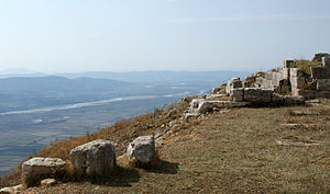 Byllis - Image of the ancient site of Byllis and the river Vjosa in the distance.