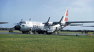 Évreux-Fauville Air Base - Lockheed C-130A-8-LM Hercules 56-0524 of the 40th Troop Carrier Squadron at Évreux, 1958.