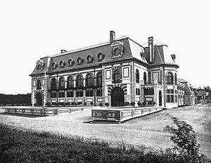 Belcourt of Newport - Belcourt in 1895, shortly after completion