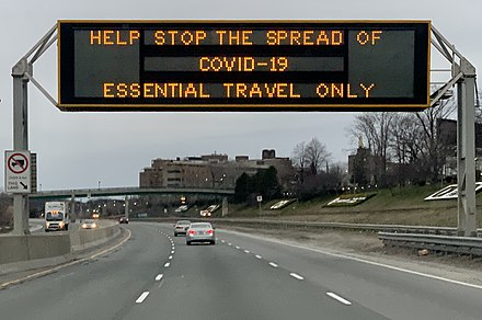 COVID-19 highway sign in Toronto%2C March 2020 %28cropped%29., From WikimediaPhotos