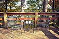 Cabin 2 deck fall Staunton River State Park (15254516774).jpg
