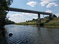 Cable bridge over the industry canal, 2018 Győr.jpg