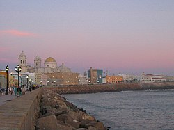 Cadiz at sunset